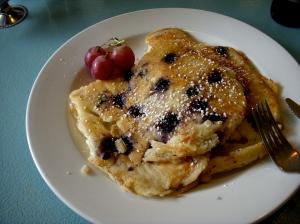 blue dog blueberry pancakes